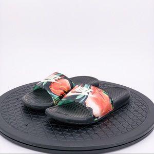 Nike Benassi Womens Floral Slides sz 6